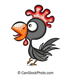 rooster bird vector illustration
