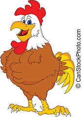 rooster cartoon thumb up