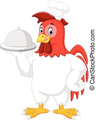 Rooster chef cartoon
