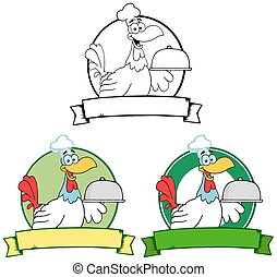 Rooster Chef. Collection Set
