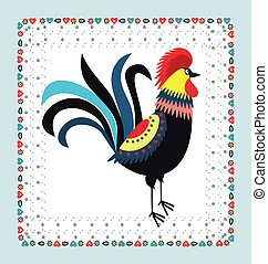 Rooster Embroidery