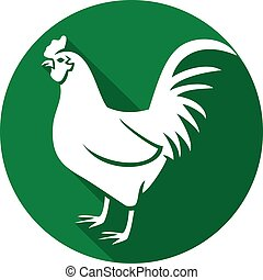 rooster flat icon (cock)
