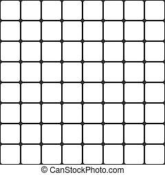 rooster, geometrisch, pattern., seamless