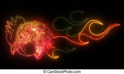 rooster hot chicken esport logo mascot template  illustration