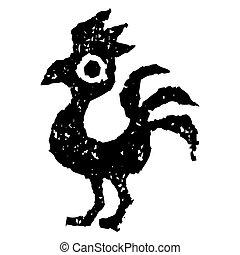 Rooster looks like a phoenix