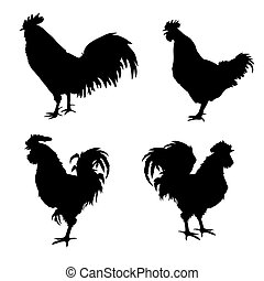 Rooster silhouettes