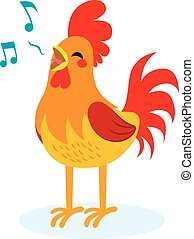 Rooster Singing