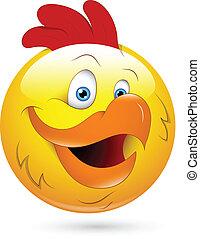 Rooster Smiley Face - Creative Abstract Conceptual Design...