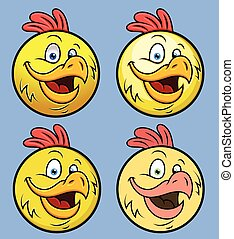 Rooster Smiley Set