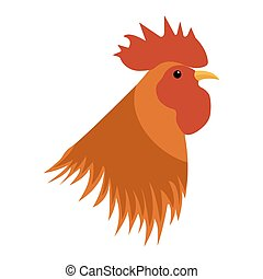 Rooster, symbol of 2017 on the Chinese calendar Vector element for New Year's design greeting cards, posters, flyers. Image of 2017 year of Red Rooster. Vector illustration
