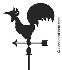 Rooster Weather Vane - Metal rooster shaped weather vane...
