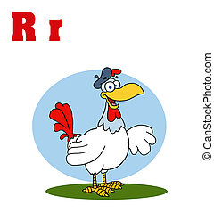 Rooster With Letters R
