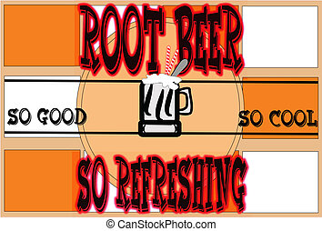 root beer poster background - root beer retro poster on...