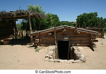 Root Cellar - Root cellar of ancient hacienda was built...