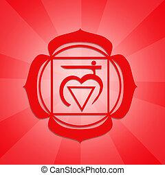Root Chakra - illustration of Root Chakra symbol