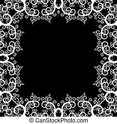 Root frame - Black and white frame made of root like...
