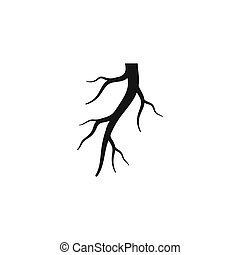 Root vector illustration template