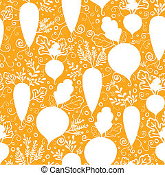 Root vegetables silhouettes seamless pattern background