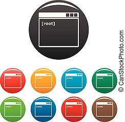 Root window icons set color