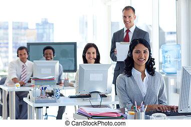 rop, noteringen, övervakare, centrera, skrift