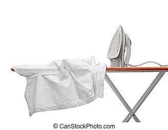 ropa, equipo, quehacer doméstico, planchado