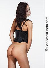 ropa interior atractiva, niñas, butt