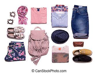 ropa, verano, colección