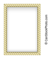 Rope Border - Yellow Rope Border. Illustration on white...