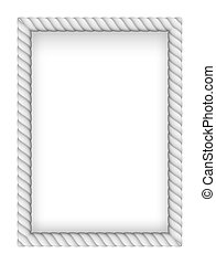 Rope Border - White Rope Border. Illustration on white...