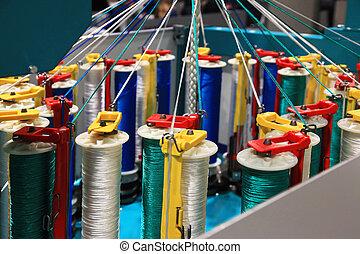 Rope braiding machine