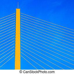 Rope bridge - Detail of bridge
