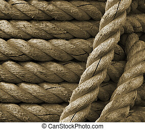 Rope - Closeup view of marine rope