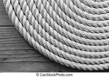 Rope Coil black and white