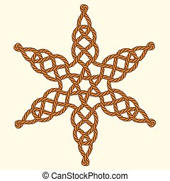 Rope decorative celtic star composition