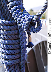 Rope Details of a Sea Boat