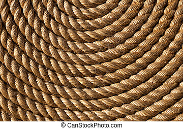 Rope folded helix