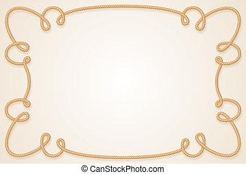 Rope Frame - Frame Made of Rope. Cartoon illustration for ...
