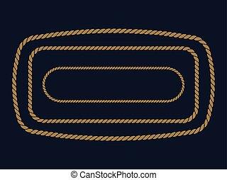 rope frame . vector Illustration