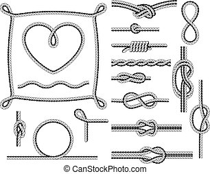 Rope frames and knots - borders and twists