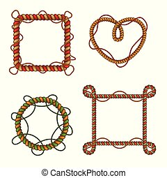 Rope Frames Realistic Set