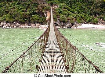 rope hanging suspension bridge