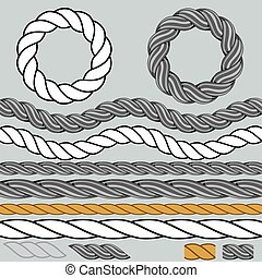 Rope Icon Background Set
