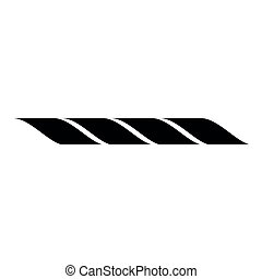 Rope icon black color illustration flat style simple image