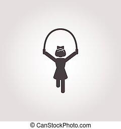 rope icon on white background