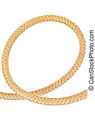 Rope in the form of a loop on a white background