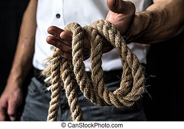 rope in the hand