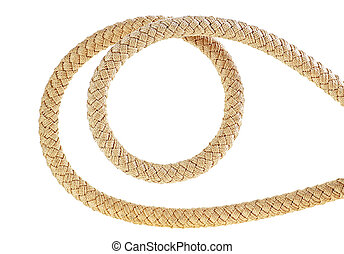 Rope isolated on a white background