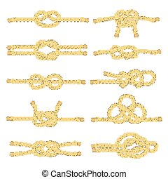 Rope Knot Decorative Icon Set