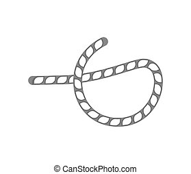 Rope knot isolated vector icon