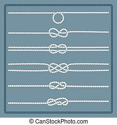 Marine rope knot - Rope knots collection. Decorative...